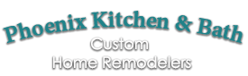 PhoenixKitchenBathCustomHomeRemodelerslogo-We do kitchen & bath remodeling, home renovations, custom lighting, custom cabinet installation, cabinet refacing and refinishing, outdoor kitchens, commercial kitchen, countertops, and more